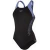speedo Boom Splice Racerback Strój kąpielowy Kobiety szary/czarny